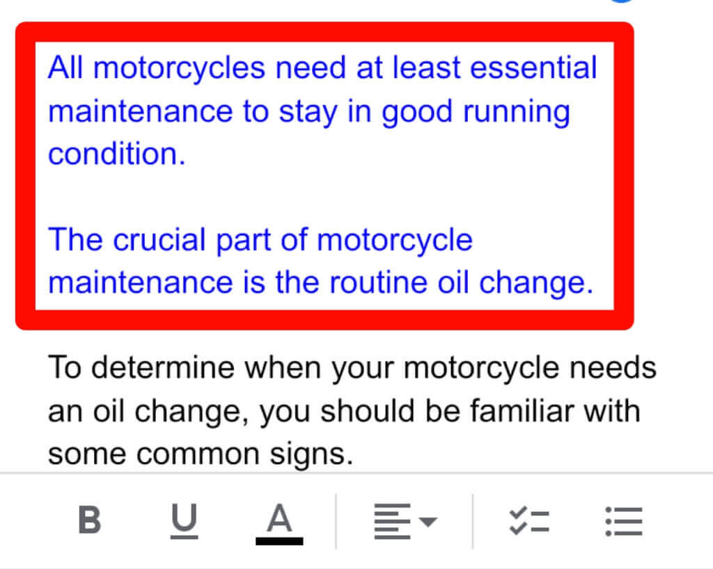 step 6 for How to highlight text in google docs on the Android/iPhone App