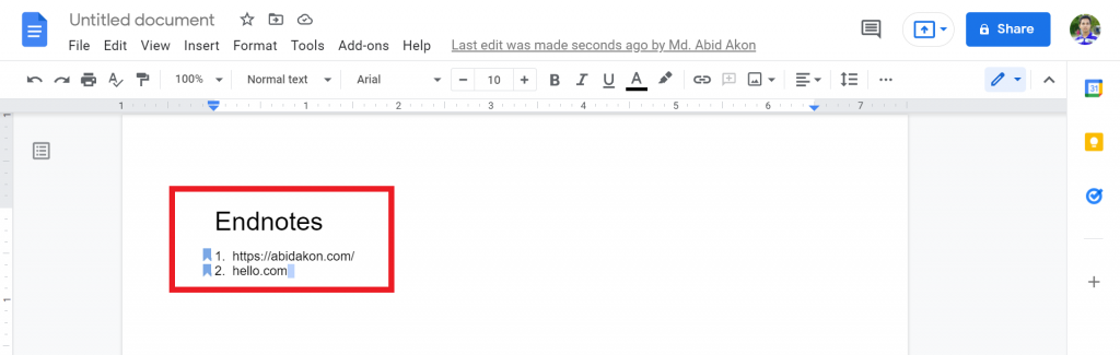 11 How To Do Endnotes In Google Docs