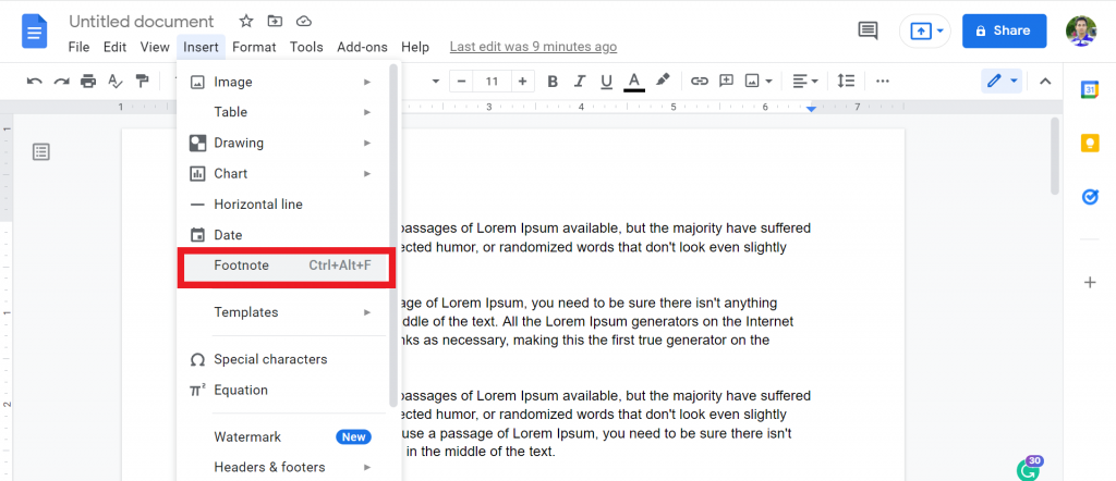 2 How To Do Endnotes In Google Docs