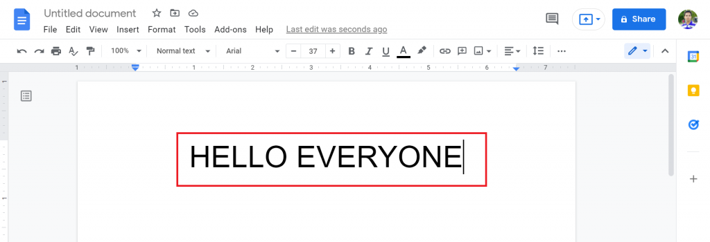 3 How To change case in Google Docs