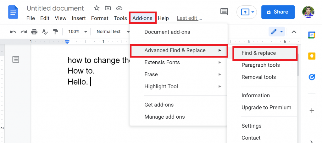 5 Method 3 Using Advanced Find & Replace.