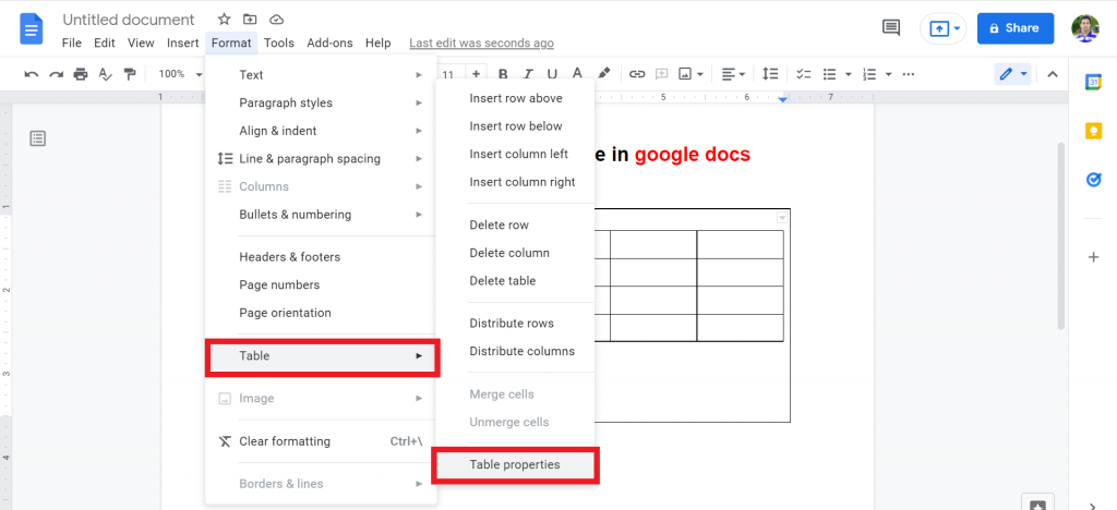 7 how to put two tables side by side in google docs
