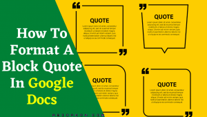 How To Format A Block Quote In Google Docs