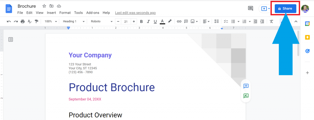 step 1 How do you make a Google Doc View Only